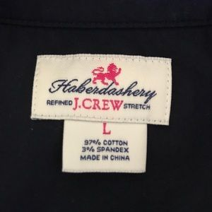 J. Crew Tops - J.CREW Haberdashery Refined Stretch Button Down L